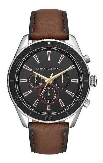 Relógio Armani Exchange Masculino Prata/marrom Ax1822/0mn