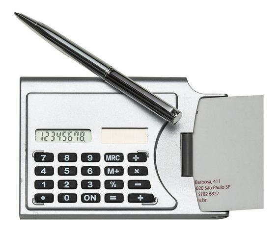 Porta Cartão De Visitas C/ Calculadora E Caneta - Oferta