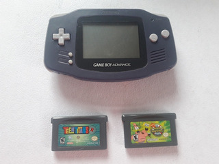 Gameboy Advance Mod. Agb-001 Color Índigo + Teen Titans Y Be