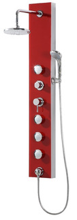 Panel Ducha Hidromasaje Piazza Pd002 Vidrio Rojo 135x20 Cm