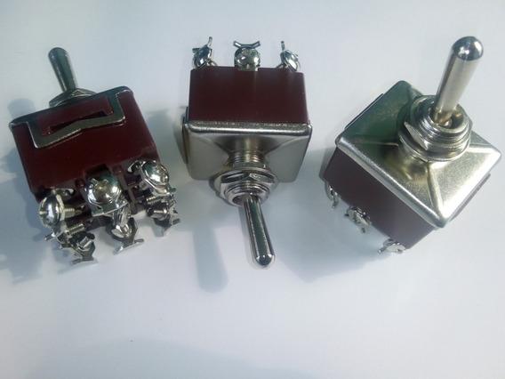 Switch Interruptor De Palanca 9 Patas 2 Polos 15 Amp