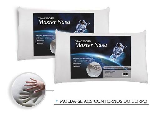 Imagem 1 de 6 de Kit 2 Travesseiros Nasa Viscoelástico + Conforto + Saúde