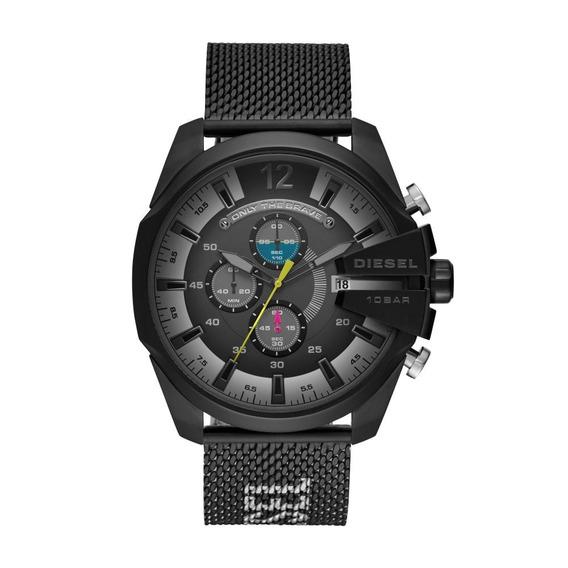 Relógio Masculino Diesel Mega Chief Dz4514/1pn 52mm Preto