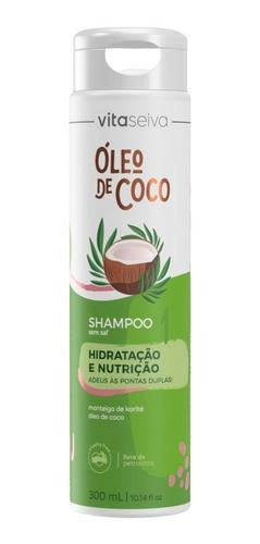 Shampoo Hidratação Óleo De Coco 300ml Vita Seiva