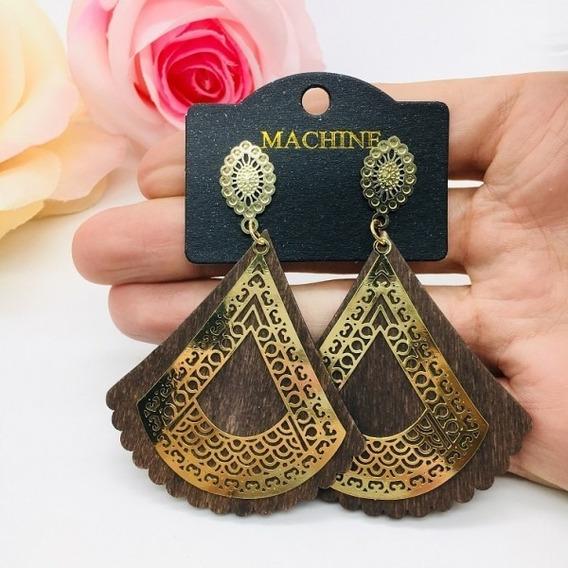 Max Brinco Elite Madeira E Metal Triangular Biju