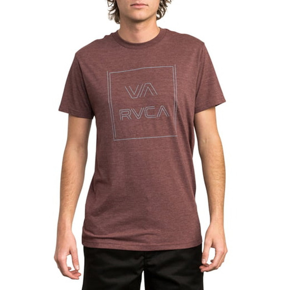 Remera M/c Rvca Pinner All The Way S Bordó Hombre M420qrpi