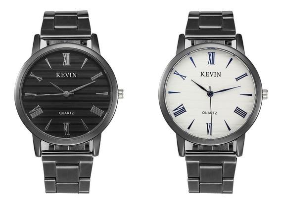 Reloj Elegante Kevin Para Caballero Moda Casual Envío Gratis