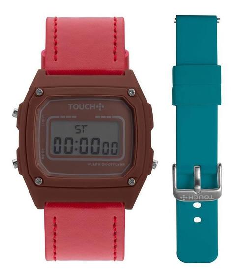 Relógio Unissex Touch Prata - Original
