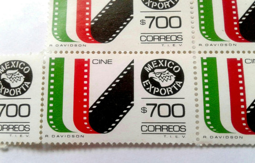 Imagen 1 de 3 de Timbres Postales México Exporta Cine