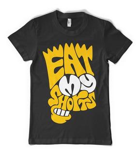 Bart Simpson Remera Eat My Shorts - Color Animal