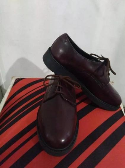 Zapatos Cuero Para Niños, Color Vinotinto, Excelente Calidad