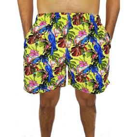 0e816a8f1 Shorts Masculino Estampado Pássaros Yachtmaster