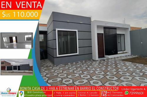 Casa A Estrenar De 2 Habitaciones Y 2 Baños Para 2 Garajes
