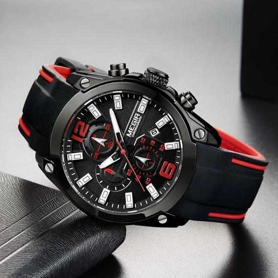 Relógio Megir 2063 Esportivo Cronógrafo Calendário Original