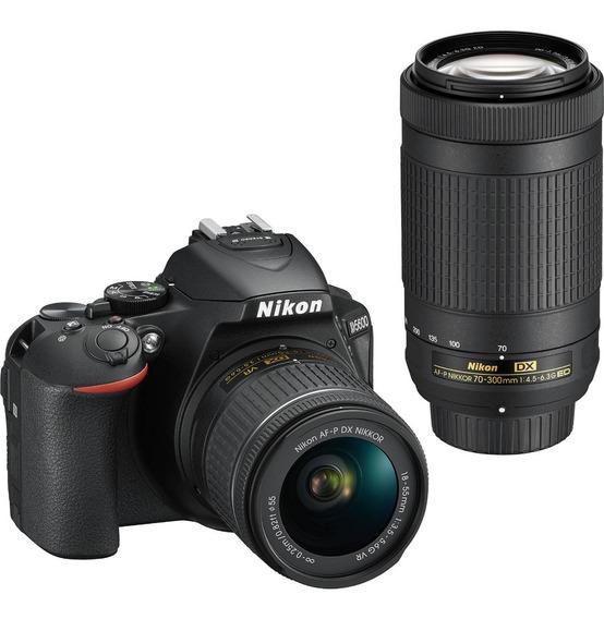 Câmera Nikon D5600 Com 18-55mm Vr + 70-300mm Ed Env Hje Nfe