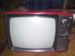 Televisor International Vhf Tv 12 Blanco Y Negro Funciona