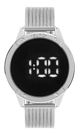 Relógio Euro Fit Touch Eubj3912ad/4f 43mm Aço Prata