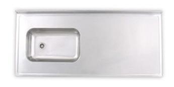Mesada Acero Inox 100x60 Bacha Incorporada Amoblamientos Fl