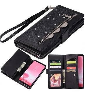 Capa Carteira Galaxy A20 A30 A10 A750 Vintage Couro Premium