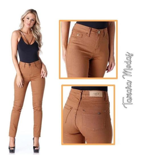 Calça Jeans Modela Bumbum / Caramelo Com Lycra Hno Tam 42