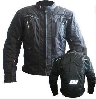 Chamarra Motociclista Textil Con Protecciones Certificada