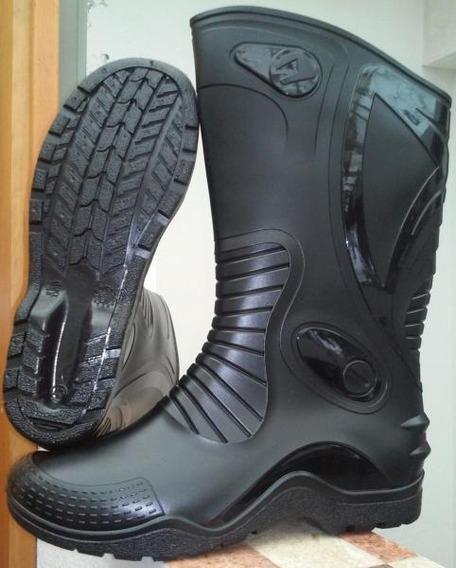 Botas Caucho Motero Impermeables Moto Lluvia Invier Chubas