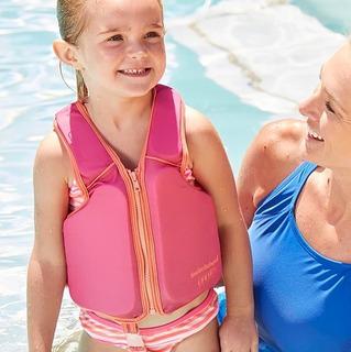 Colete Bóia Salva Vidas Swimschool Rosa Para Criança Menina
