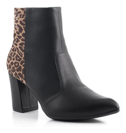 Bota Botineta Zapato Taco 8cm Animal Mujer Importado !!!!