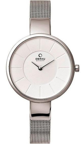Reloj Obaku V149lxcimc Acero Plateado-blanco Original D Dama