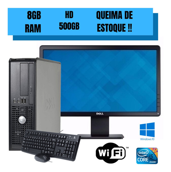 Pc Completo - Dell 780 Core 2 Duo + Monitor Wide Dell Frete