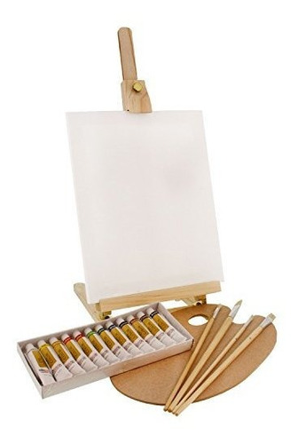 Us Art Supply Madera Studio Table Easel Y Paint Box Set Con