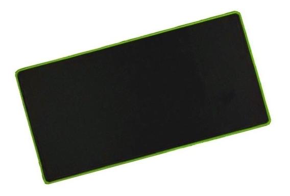 Mousepad Mouse Pad Gamer Grande Ecens Borda Verde