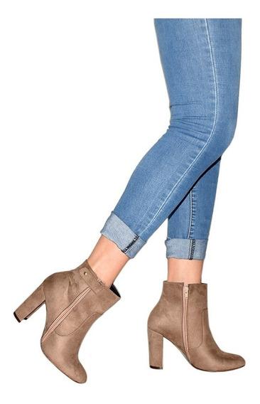 Zapatos Botin Para Mujer Dama Tacon Colores Modelos Diseño Calidad -02