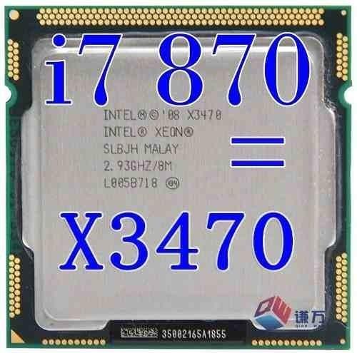 Processador Cpu Lga1156 Xeon X3470 2.93 = I7 870