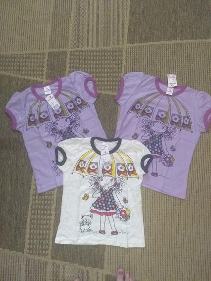 Camiseta Manga Curta Infantil Menininha