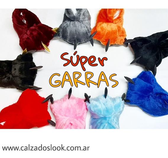 Pantuflas Garra Peluche Las Mas Calentitas !!!!
