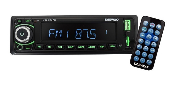 Autoestereo Daewoo Bluetooth Usb Micro Sd Fm Dw6207c /e