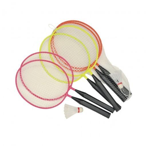 Kit Mini Raquetes Badminton Laranja Winmax