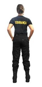 Calça Tática 6 Bolsos Rip Stop Feminina / Segurança / Agente