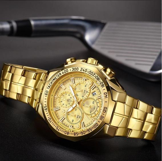 Relógio Masculino Wwoor Dourado