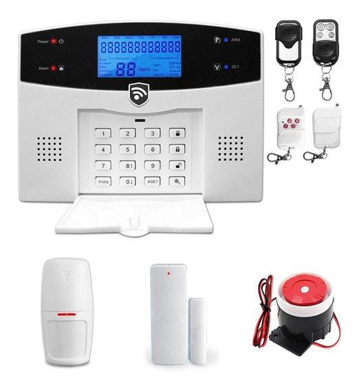 Kit 6 Alarma Gsm Celular Dual Inalambrica Vecinal Seguridad Casa Sistema Sensores Defensa Alerta Control Via App Negocio
