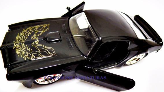 Miniatura Pontiac Fire Bird Ano 1972 Preto Jada 1:32 Raridad