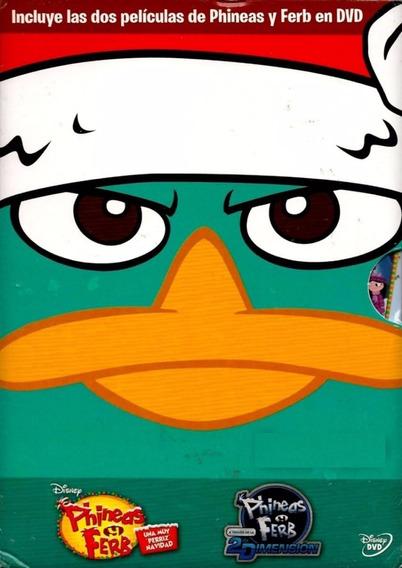 Phineas Y Ferb Peliculas : Perriz Navidad & 2 Dimension Dvd