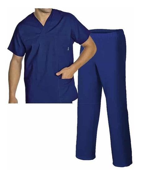 Conjunto Médico Enfermero Casaca Pantalón Azul Marino