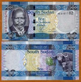 Sudão Do Sul 10 Libras 2011 P. 7 Fe Cédula - Tchequito