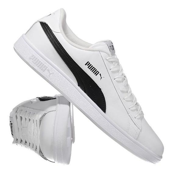 Tênis Puma Smash V2 L Branco E Preto