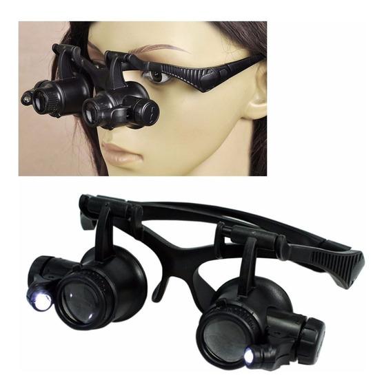 Gafas Con Lupa Intercambiable 25x Luz Led