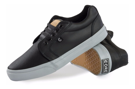 Tenis Skate Core Footwear Smith Black Grey 172295