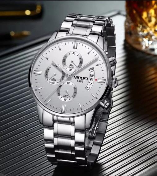 Relógio Masculino Luxo Nibosi Prova D