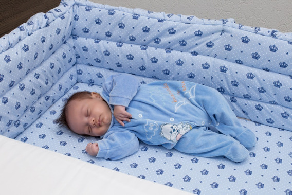 Mini Berço Bebê Lateral Moises Bercinho Acoplado Com Enxoval